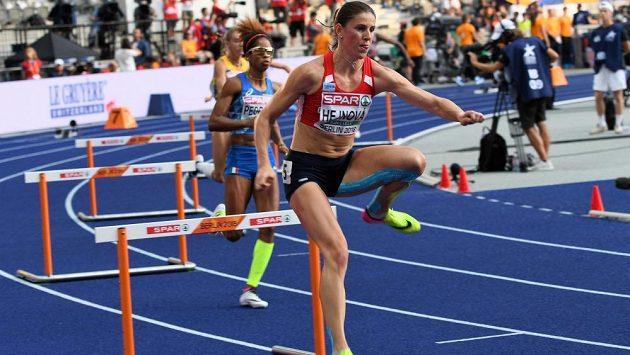 Zuzana Hejnová v semifinále mistrovství Evropy v Berlíně, které se pro ni stalo konečnou.