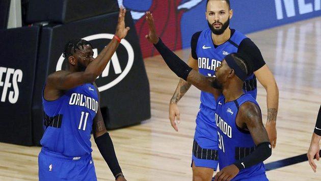 Basketbalisté Milwaukee překvapivě podlehli na startu play off NBA Orlandu. Jeho hráči si triumf užívali.