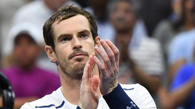 Britský tenista Andy Murray po vítězství v druhém kole US Open.