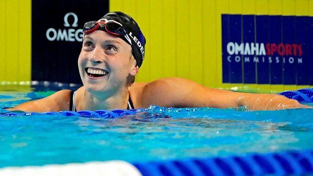 Katie Ledecká po jednom z vítězných závodů