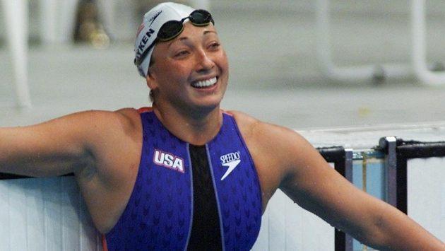 Americká plavkyně Amy van Dykenová na snímku z roku 2000.