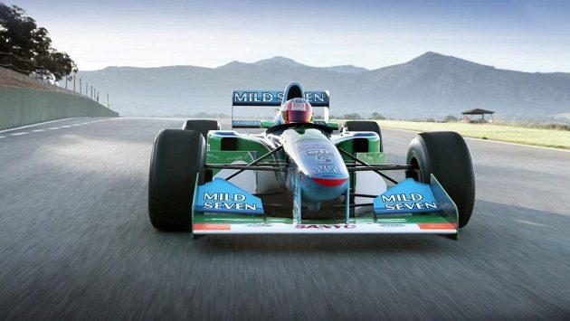 První mistrovský monopost Michaela Schumachera Benetton-Cosworth z roku 1994