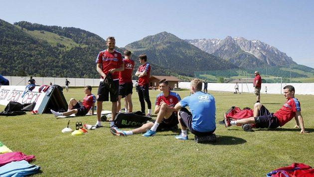 Čeští fotbalisté na soustředění v Kranzachu před ME.