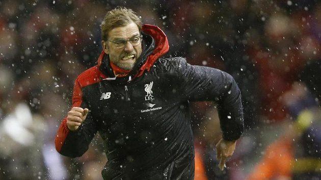 Takhle slavil manažer Liverpoolu Jürgen Klopp trefu Joea Allena na 3:3 v souboji s Arsenalem.
