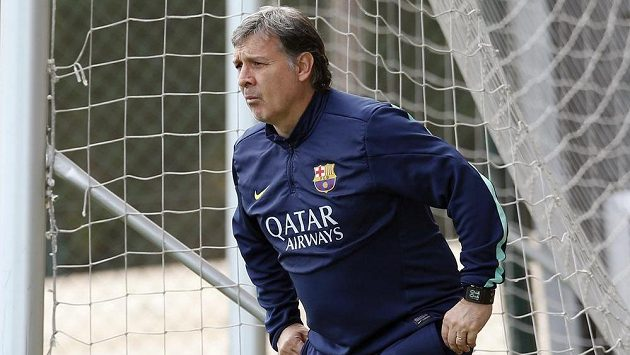 "Trenér fotbalistů Barcelony Gerardo ""Tata"" Martino."