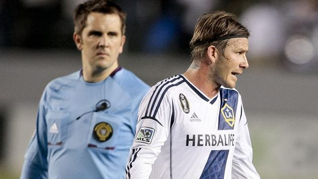 Hvězda Los Angeles Galaxy David Beckham.