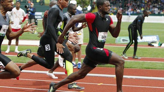Americký sprinter Justin Gatlin doběhl do cíle v čase 9,80 sekundy.