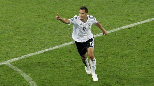Miroslav Klose v dresu německé reprezentace.