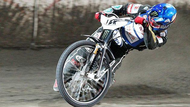 Brit Tai Woffinden při plochodrážní Grand Prix na pražské Markétě.