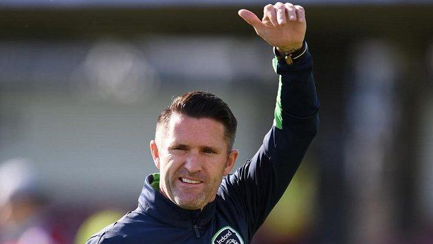 Robbie Keane před přípravným utkáním Irů s Bělorusy.