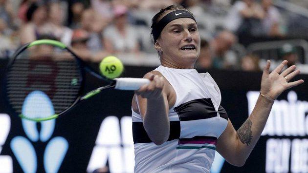 Běloruská tenistka Aryna Sabalenková na letošním Australian Open.