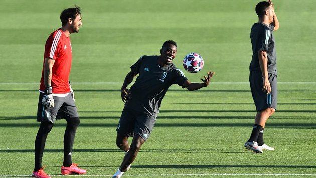 Blaise Matuidi ještě v Juventusu během tréninku.