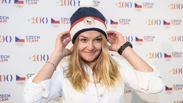 Akrobatická lyžařka Nikol Kučerová na archivním snímku.
