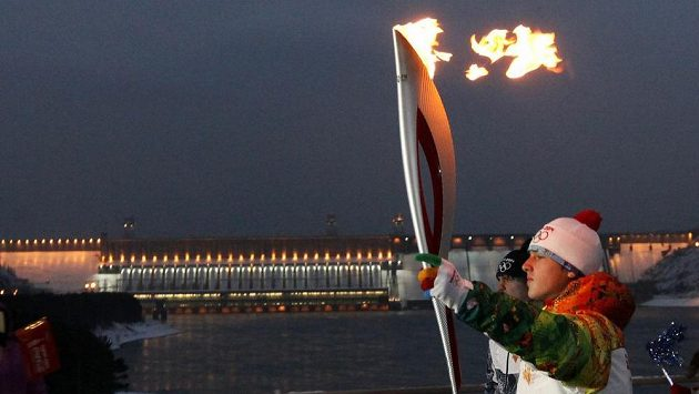 Olympijská pochodeň pro OH v Soči.