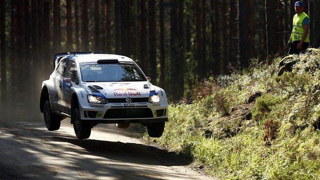 Jari-Matti Latvala během finské rallye.