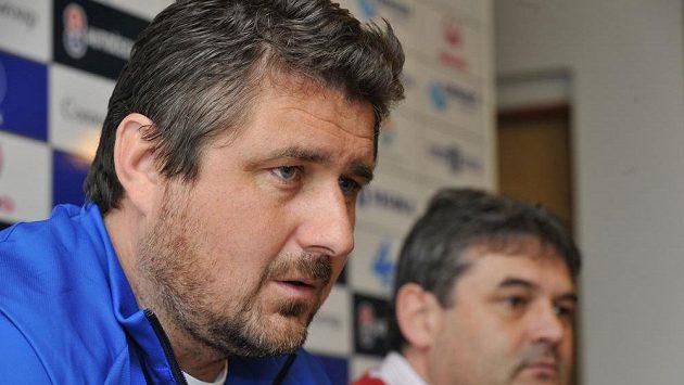 Olomoucký trenér Zdeněk Psotka (vlevo) a sportovní ředitel Ladislav Minář.