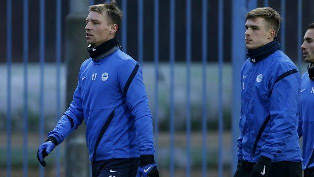 Zimní liberecké posily Jan Rajnoch (vlevo) a Jevgen Budnik budou nachystány na Alkmaar.
