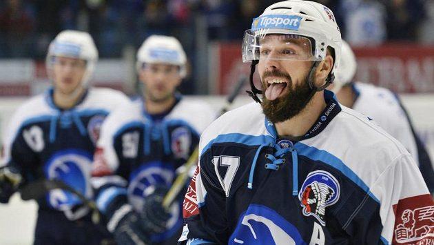 Milan Gulaš z Plzně se raduje z gólu v duelu s Libercem.