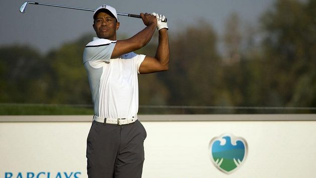Golfista Tiger Woods nedohrál na The Barclays pro-am.