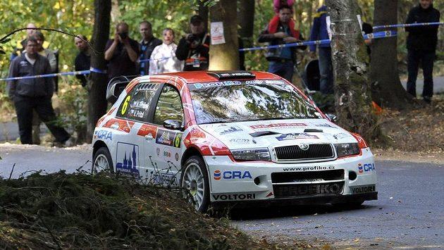 Karel Trněný a Václav Pritzl během Rallye Klatovy.