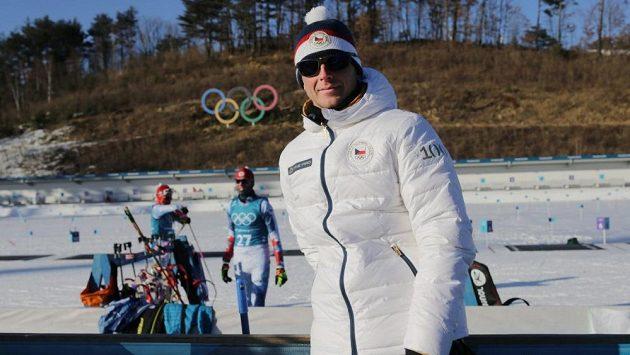 Šéftrenér českých biatlonistů Ondřej Rybář v Alpensia Biathlon Centre v jihokorejském Pchjongčchangu.