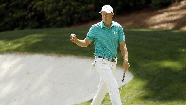 Golfista Jordan Spieth během Masters.