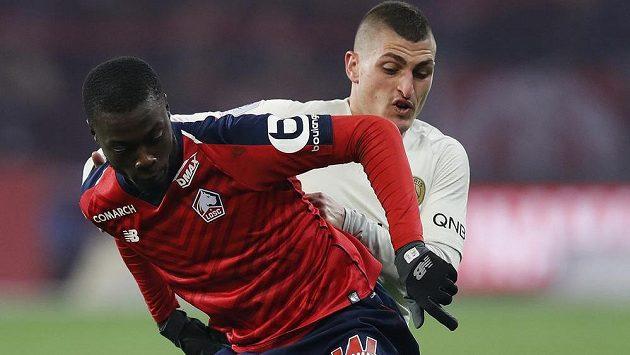 Fotbalista Nicolas Pépé z Lille je v hledáčku Chelsea. Pokud Blues přijdou o Edena Hazarda, chtěl by ho londýnský klub koupit.