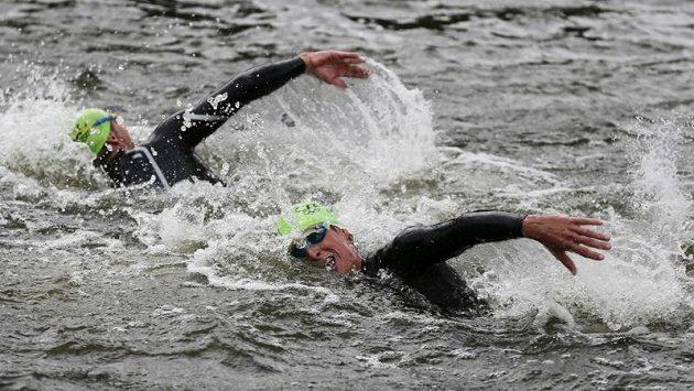 Jan Čelůstka během olympijského triatlonu v Londýně