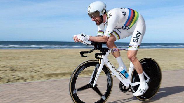 Britský cyklista Bradley Wiggins v závodu Tři dny De Panne.