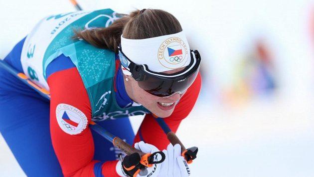 Petra Nováková během závodu na 10 km volně.