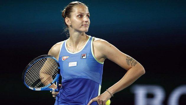 Česká tenistka Karolína Plíšková na Australian Open.