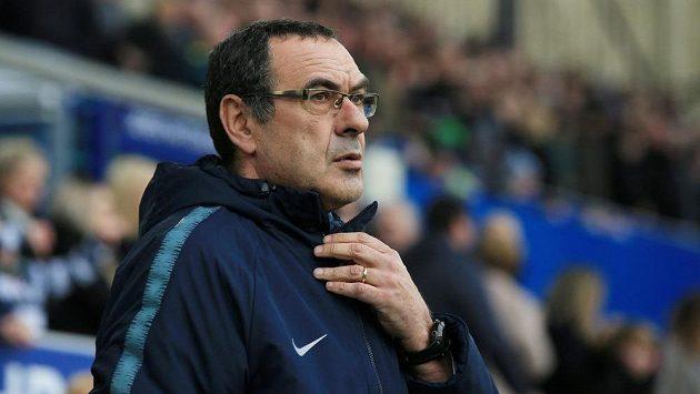 Manažer fotbalové Chelsea Maurizio Sarri.