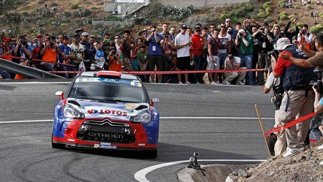 Robert Kubica s vozem Citroën DS3 RRC při Rallye Kanárské ostrovy.