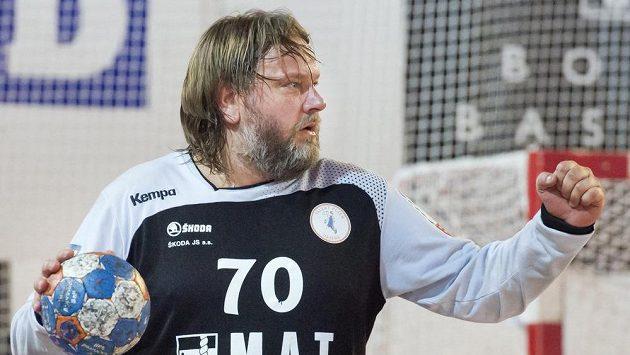 Brankář Plzně Radek Motlík ve finále extraligy.