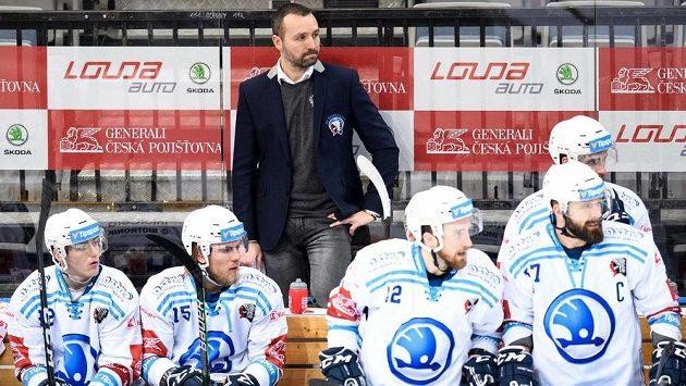 Trenér Škody Plzeň Ladislav Čihák během utkání Tipsport extraligy. Archivní foto