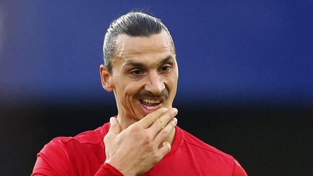 Útočník Manchesteru United Zlatan Ibrahimovic.