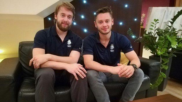 Bratři Hynek (vlevo) a Tomáš Zohornové na MS v Bratislavě.