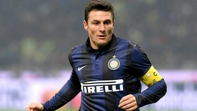 Javier Zanetti v dresu milánského Interu, v němž po uplynulé sezóně ukončil hráčskou kariéru.