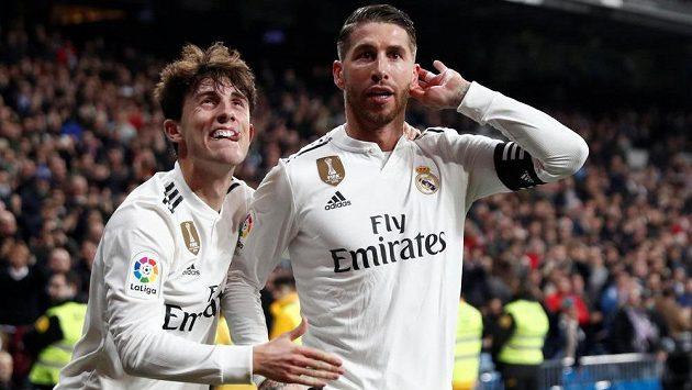 Kapitán Realu Madrid Sergio Ramos slaví. V úvodním čtvrtfinále Copa del Rey vstřelil Gironě dvě branky a Bílý balet vyhrál 4:2.