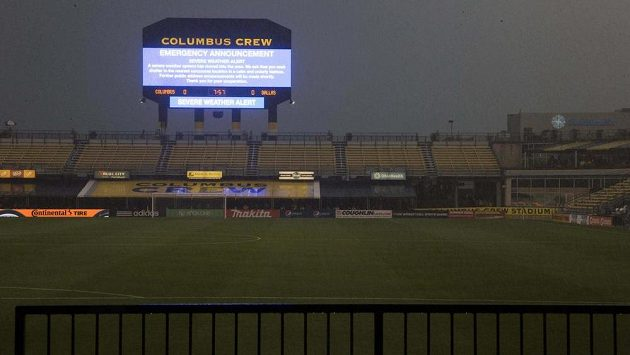 Počasí v Columbusu nedovolilo odehrát duel MLS proti Dallasu.