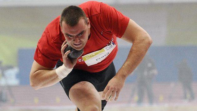 Koulař Ladislav Prášil během mezinárodního halového mítinku Prague Indoor.