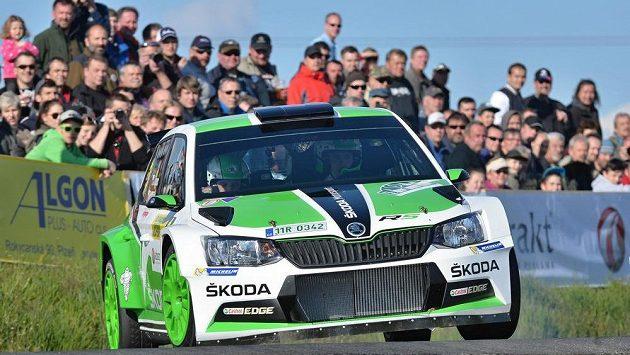 Posádka Jan Kopecký a Pavel Dresler při Rallye Šumava Klatovy.