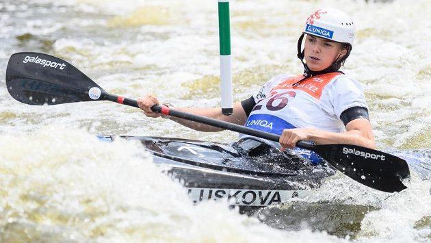 Kajakářka Antonie Galušková ve finále v Troji.