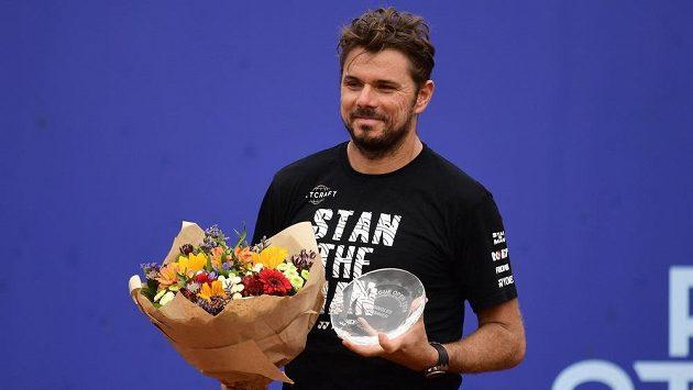 Vítěz pražského turnaje I. ČLTK Prague Open Stan Wawrinka ze Švýcarska.