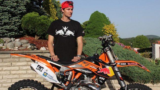 Freestyle motokrosař Petr Pilát.