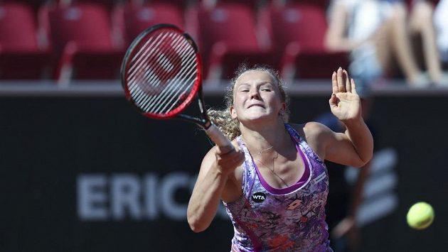 Česká tenistka Kateřina Siniaková ve finále v Bastadu.