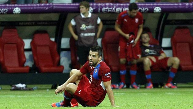 Zklamaný Milan Baroš po čtvrtfinálové prohře s Portugalskem