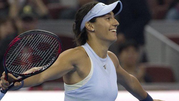 Radost Caroline Garciaové po vítězství nad Petrou Kvitovou.