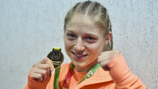 Sandra Mašková a její zlato ze Světových her.