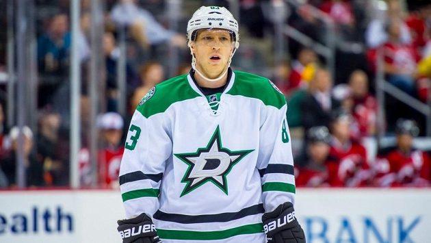 Aleš Hemský z Dallasu v utkání s New Jersey Devils.